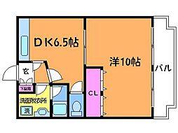 NO.2サンライズ[3階]の間取り