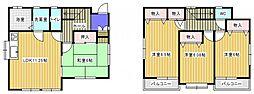 [一戸建] 千葉県松戸市新松戸4丁目 の賃貸【/】の間取り