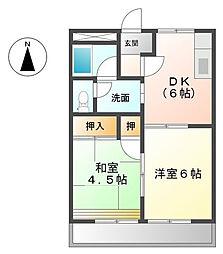フォートレス21 A[2階]の間取り