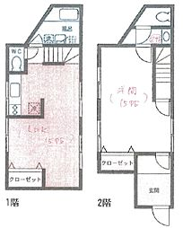 [一戸建] 神奈川県横浜市中区打越 の賃貸【/】の間取り