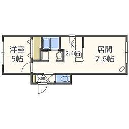 北海道札幌市東区北三十七条東17丁目の賃貸マンションの間取り