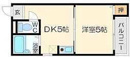 KSハイムI[5階]の間取り