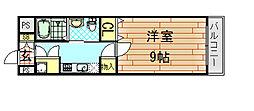 インパレス小阪[602号室]の間取り