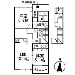 ラッフィナート 2階[202号室]の間取り