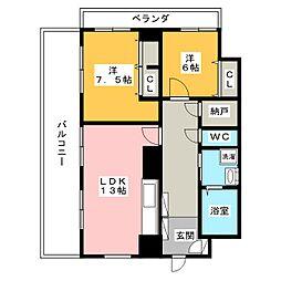 シャトレ御棚[5階]の間取り