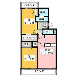 TORO WILSHIRE[3階]の間取り