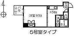 ヴァンサンク堺町[8階]の間取り