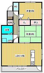 レジデンスセーダーコート[2階]の間取り