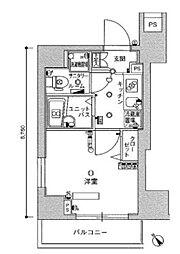 スカイコート田端第3[5階]の間取り