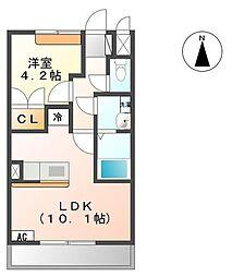 モンブランコート[2階]の間取り