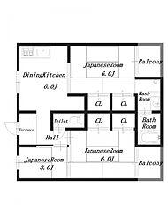 ビレッジハウス見瀬3号棟[3階]の間取り