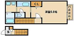兵庫県神戸市西区森友5丁目の賃貸アパートの間取り