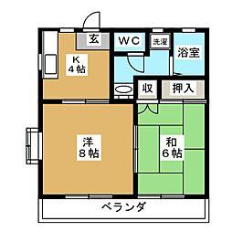SHIKOTAレジデンスA[2階]の間取り
