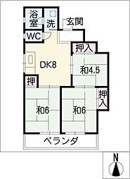 ハイツ松下[2階]の間取り