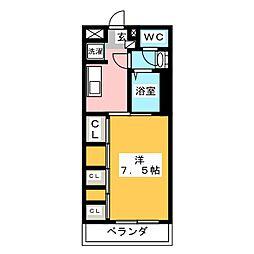 愛知県名古屋市西区浄心1の賃貸マンションの間取り