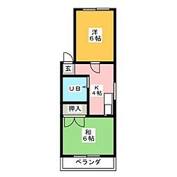 サンハイツ大野木[2階]の間取り