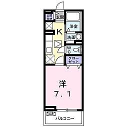 埼玉県鶴ヶ島市富士見1丁目の賃貸アパートの間取り