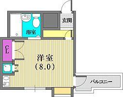 メゾンドゥロイ[6階]の間取り