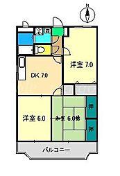 アドバンス[2階]の間取り