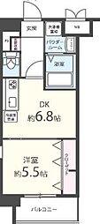 福岡市地下鉄空港線 大濠公園駅 徒歩8分の賃貸マンション 8階1DKの間取り