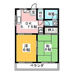 コーポサトウ[3階]の間取り