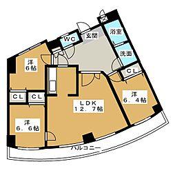 ツリーベル富士宮[5階]の間取り