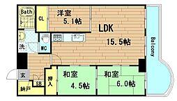ストークマンション長堀[2階]の間取り