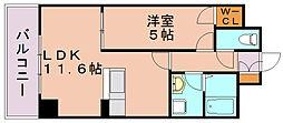 エスポワール豊[6階]の間取り
