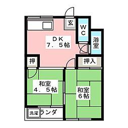 サンコーポ須崎[2階]の間取り