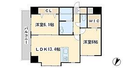アイランドコート別院[8階]の間取り