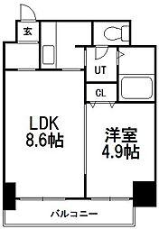 北海道札幌市中央区南七条西1丁目の賃貸マンションの間取り