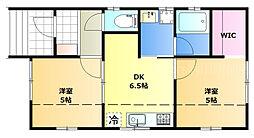 JR瀬戸大橋線 植松駅 徒歩3分の賃貸一戸建て 1階2DKの間取り