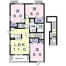 New Atagosita C[2階]の間取り