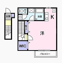 東京都国立市富士見台3丁目の賃貸アパートの間取り