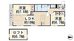 BLUEBELL RESIDENCE2[211号室]の間取り