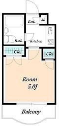 ロンベルク17[3階]の間取り