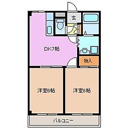 シフォン[1階]の間取り