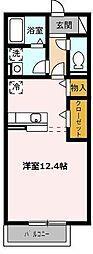 愛知県名古屋市緑区浦里4丁目の賃貸アパートの間取り