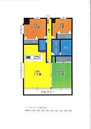 ロータスハウス4階Fの間取り画像