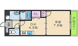 寺田町ハイツ[103号室]の間取り
