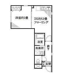 リベルタ東新宿[1階]の間取り