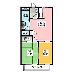 メゾングランディス 2号館[1階]の間取り