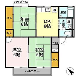 愛知県名古屋市緑区大高町字一色山の賃貸アパートの間取り