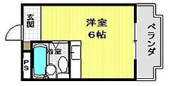 兵庫県姫路市白国5丁目の賃貸マンションの間取り