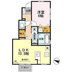 ゴールドクエスト B棟[1階]の間取り