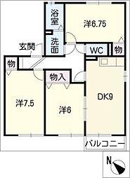 EST B棟[1階]の間取り