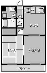 神奈川県相模原市中央区弥栄1丁目の賃貸マンションの間取り