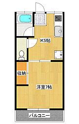 コモード石井町1[1階]の間取り