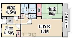 エスポワールK15[203号室]の間取り