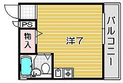 西尾マンション[1階]の間取り